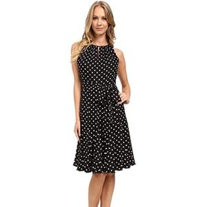 NWT Cute Navy and White Polka Dot Tahari Dress